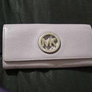 Michael Kors lavender snap close wallet